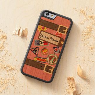 ステッカーのバンパーのiPhone6ケースの旅行荷物 CarvedチェリーiPhone 6バンパーケース