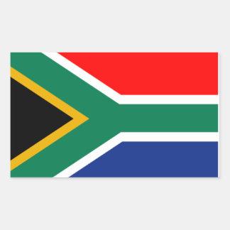 ステッカーの南アフリカの旗 長方形シール