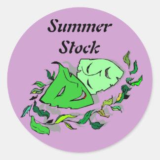 ステッカーの夏の在庫の喜劇の悲劇の劇場のマスク ラウンドシール