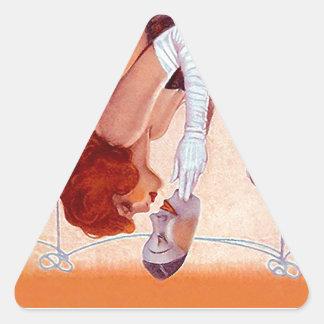 ステッカーの戯曲上昇のステージの星の劇場の代理の芸術 三角形シール