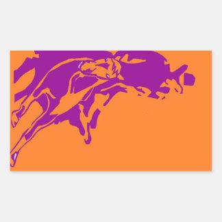 ステッカーの西部の性能の在庫の切断の馬 長方形シール