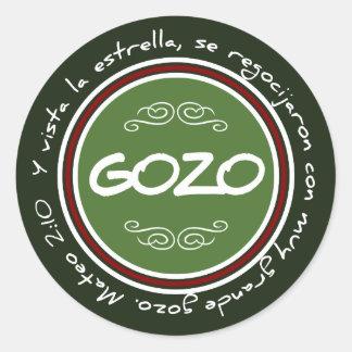 ステッカーのNavideñoの詐欺のGozo yの裏面Biblico ラウンドシール