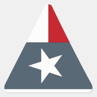 ステッカーは青い単独星の旗のハートテキサス州Tex衰退しました 三角形シール