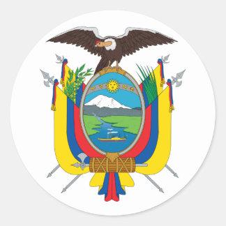 ステッカーエクアドルの紋章付き外衣 ラウンドシール