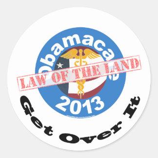 ステッカーオバマケアの国法 ラウンドシール