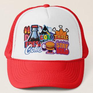 ステッカーシリーズ帽子 キャップ