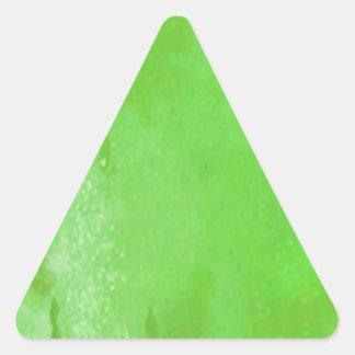 ステッカー緑ビールセントパトリックの日のパーティーのフェスティバル 三角形シール