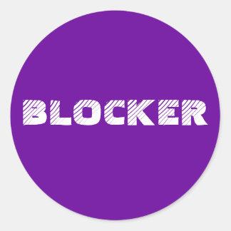 ステッカー6 -か20パック: ブロッカー ラウンドシール