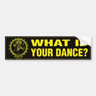 ステッカー-あなたのダンスは何ですか。 (B&Y) バンパーステッカー