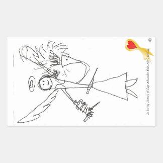 ステッカー、ゲージの天国Worrior #3 長方形シール
