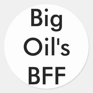 ステッカー-大きい油のBFF ラウンドシール
