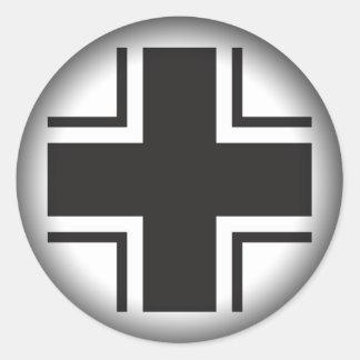 ステッカー- Luftwaffeの世界大戦のあたりで黒くするために衰退して下さい ラウンドシール