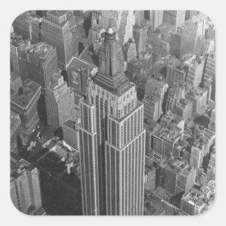 ステッカーNYCのヴィンテージの空気のエンパイア・ステート・ビルディング スクエアシール