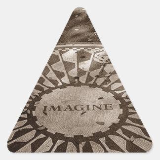 ステッカーNYCはいちご分野セントラル・パークを想像します 三角形シール