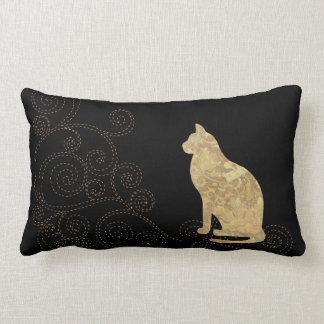 ステッチのLumbarの枕を持つブロケード猫 ランバークッション