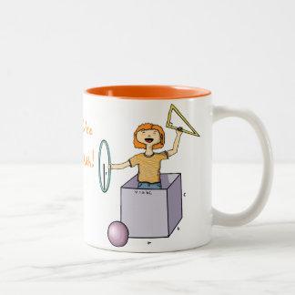 ステップ1: コーヒー、ステップ2: 数学 ツートーンマグカップ
