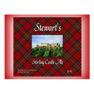 ステュワートのスターリングの城のエール ポストカード