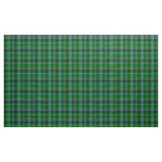 ステュワートのタータンチェックの青緑および黒の格子縞の生地 ファブリック