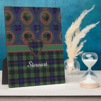ステュワートの一族の狩りの格子縞のスコットランド人のタータンチェック フォトプラーク