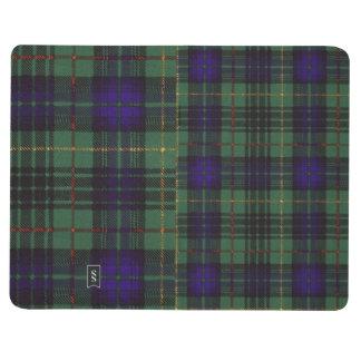 ステュワートの一族の狩りの格子縞のスコットランド人のタータンチェック ポケットジャーナル