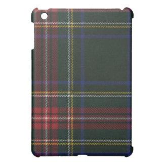 ステュワートの黒くモダンなタータンチェックのiPadの箱 iPad Miniケース