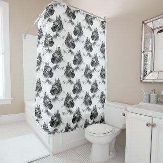 ステラ灰色猫 シャワーカーテン