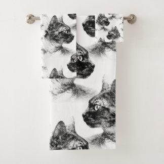 ステラ灰色猫 バスタオルセット