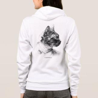 ステラ灰色猫 パーカ