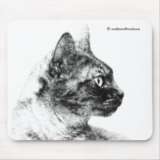 ステラ灰色猫 マウスパッド