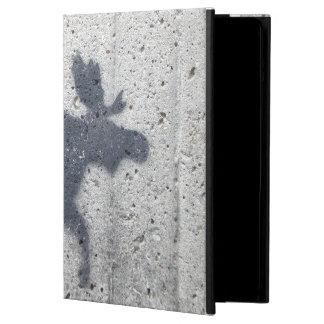ステンシル落書きのアメリカヘラジカ iPad AIRケース