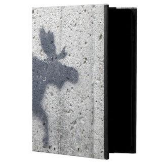 ステンシル落書きのアメリカヘラジカ POWIS iPad AIR 2 ケース