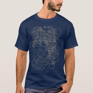 ステンシル落書きのデザイン Tシャツ