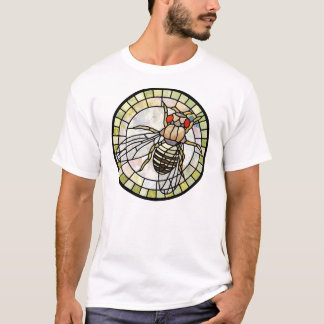 ステンドグラスのショウジョウバエ(ミバエ) Tシャツ