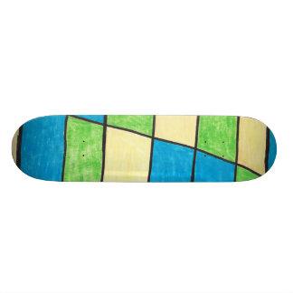 ステンドグラスのスケートボード スケートボードデッキ
