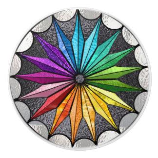 ステンドグラスのスタイルの陶磁器のノブ セラミックノブ