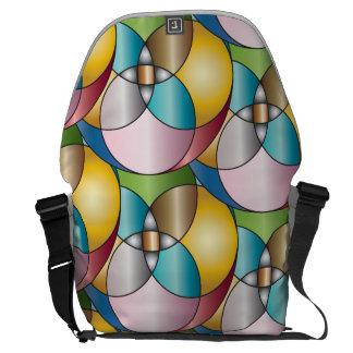 ステンドグラスのデザインパターン メッセンジャーバッグ