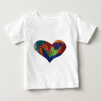 ステンドグラスのハート ベビーTシャツ