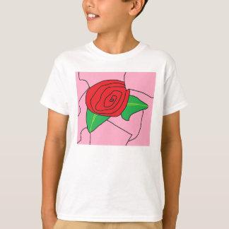 ステンドグラスのバラ白いT (版権) Tシャツ