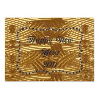 ステンドグラスのパーティーケルト族の新年の カード