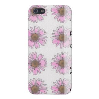 ステンドグラスのピンクのデイジー iPhone 5 CASE