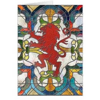 ステンドグラスのライオンの頂上 カード