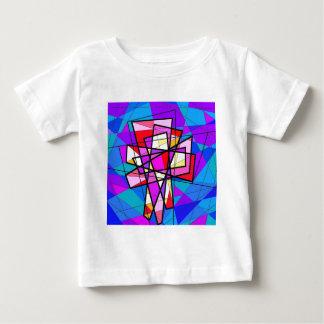 ステンドグラスの十字架像 ベビーTシャツ
