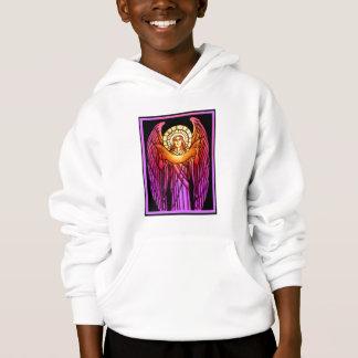 ステンドグラスの天使のスエットシャツ