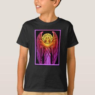 ステンドグラスの天使は暗いTシャツをからかいます Tシャツ
