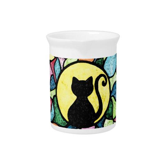 ステンドグラスの子猫の水彩画の水差し ピッチャー