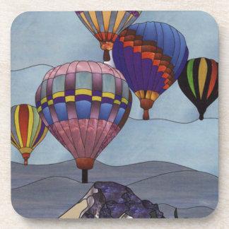 ステンドグラスの熱気の気球 コースター