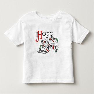 ステンドグラスの蝶肺癌 トドラーTシャツ