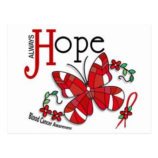 ステンドグラスの蝶血液の癌 ポストカード
