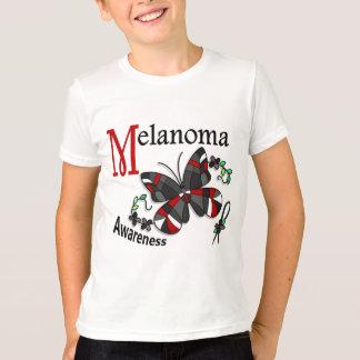 ステンドグラスの蝶2メラノーマ Tシャツ