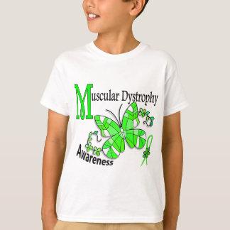 ステンドグラスの蝶2筋ジストロフィー Tシャツ